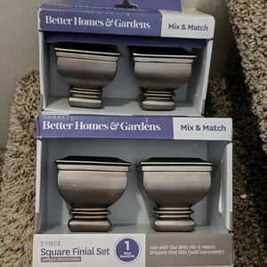 Curtain Rod Knob Sets in Pewter